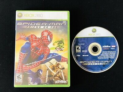 Spider-Man: Friend or Foe (Microsoft Xbox 360, 2007) Case & Disc - Tested