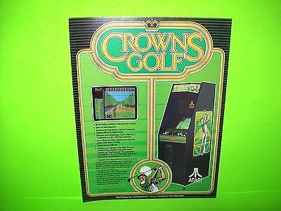 Atari CROWNS GOLF Original 1984 NOS Retro Video Arcade Promo Sales Flyer Rare