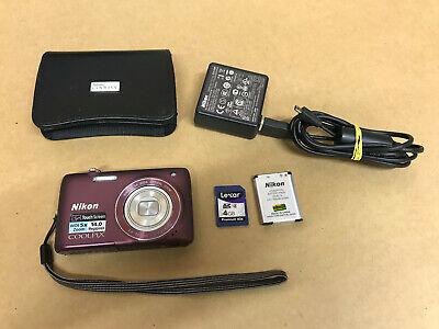 Nikon COOLPIX S4100 14.0MP Digital Camera Touchscreen - Plum