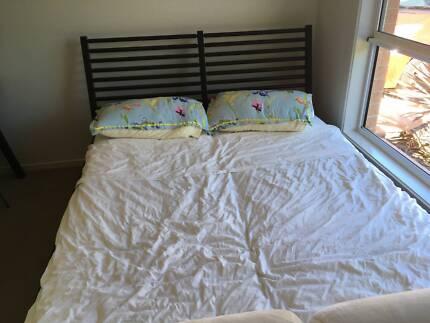 Ikea queen bed frame and mattress