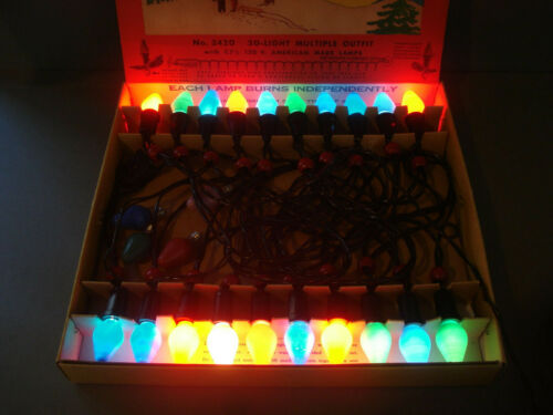 Vintage ~ Noma ~ No.3420 ~ Working 20 Lite String of Christmas Lites