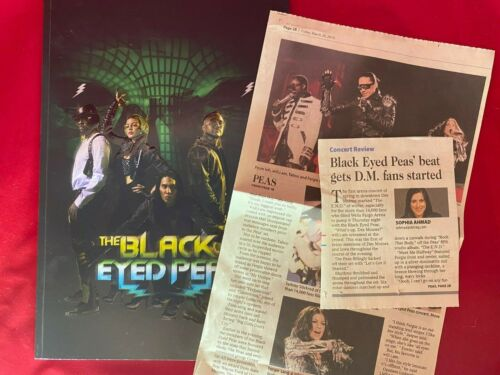 2010 BLACK EYED PEAS The End World Tour TICKET Program Book + Newspaper Review