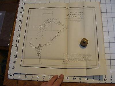 Early 1900's Original chart ISTHMIAN CANAL:  plate 52 PUERTO Y BOCA DEL RIO DE