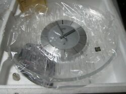 NEW FLAWLESS Exquisite JAPAN HOYA Lofty Crystal Clear  MANTLE CLOCK NOS