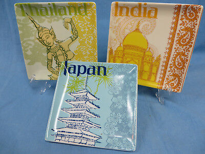 Pier 1 Asian Country Appetizer Canape Plates (Country Appetizer)