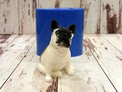 """""""French Bulldog"""" dog silicone mold for soap and candles making"""