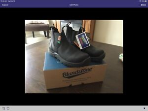 Blundstone safety boots, men's size 81/2