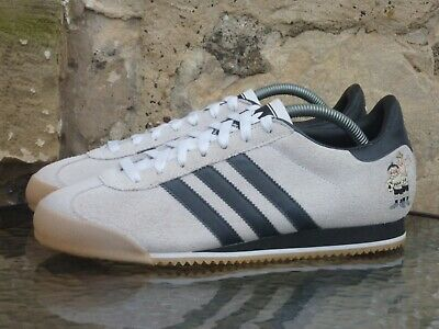 2005 Adidas Kick WM 74 UK 8 Off White Black Originals World Cup 1974 OG vintage