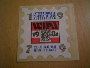 Vignette weiß WIPA 1981 (1979) - <span itemprop=availableAtOrFrom>steiermark, Österreich</span> - Vignette weiß WIPA 1981 (1979) - steiermark, Österreich