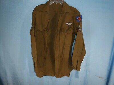 1940s Men's Shirts, Sweaters, Vests VINTAGE WWII 1940s US ARMY MENS DRESS SHIRT AIR CORPS BOMBADIER RCK $99.99 AT vintagedancer.com