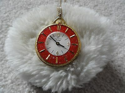 Swiss Made American Heritage Wind Up Necklace Pendant Watch