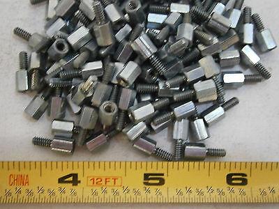 Lyn-Tron BR6979-0.250-34 Male-Female Standoff Brass Clear Zinc Lot of 25 #3298