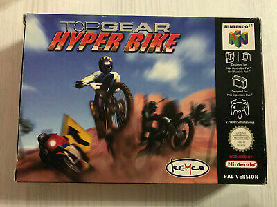 TOP GEAR HYPER BIKE NINTENDO 64 N64 PAL CIB MULTI