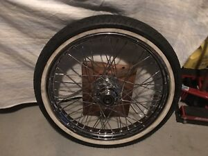 Harley davidson motorcycle rims and tire
