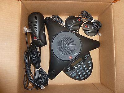 Polycom Soundstation2 Soundstation 2 Ex Phone W 2 Mics Power Good Shape