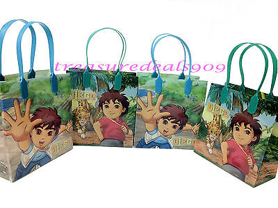 12 PC GO DIEGO GO DORA  GOODIE GIFT BAGS PARTY FAVORS CANDY TREAT BIRTHDAY BAG