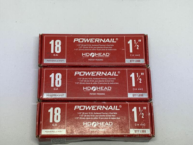 Powernail-Powercleats 18 Gauge Flooring Nails 1 1/2- 3000 Nails