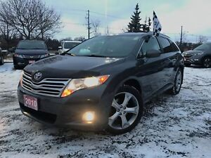 2010 Toyota Venza V6 AWD 6A Clean Carfax|Winter Tire Package|Lea