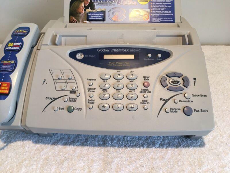 Brother IntelliFAX-885MC Plain Paper Fax Phone Copier Machine w/Message Center