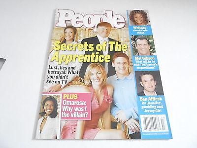 MARCH 29 2004 PEOPLE magazine (NO LABEL) UNREAD - APPRENTICE - DONALD TRUMP