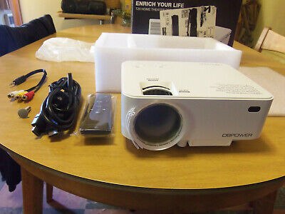 DBPOWER T20 Multimedia Home Mini Projector! LCD 1800 Lumens NEW/OPENED! DB Power