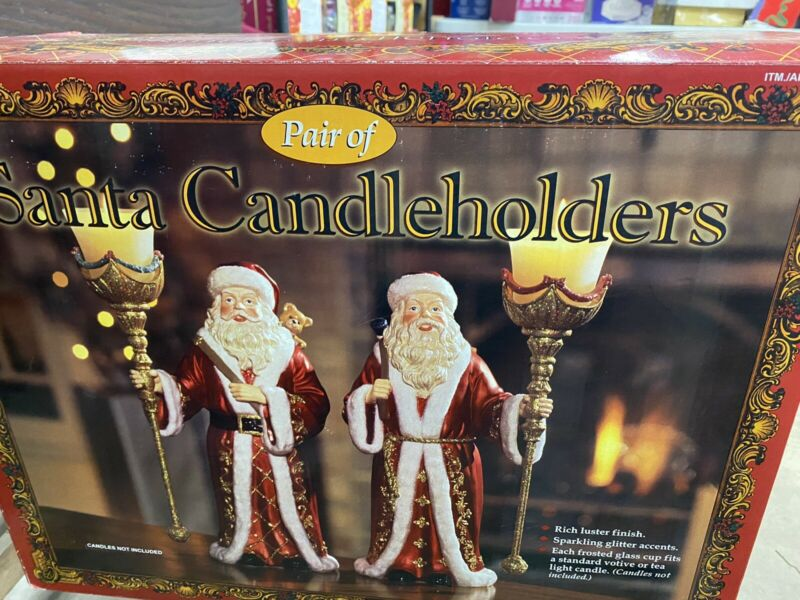 Santa Candle Holders