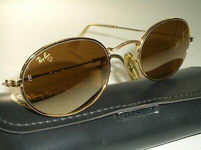 Vintage B&L Ray Ban W1909 Gold Draht Oval Spiegel Diamant Harte Aviator