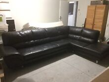 Black leather couch Cowaramup Margaret River Area Preview