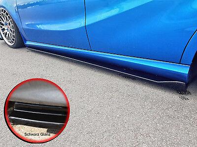 CUP3 Seitenschweller Sideskirts ABS Mercedes A-Klasse W176 Urban schwarz glanz