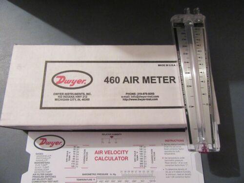 Dwyer  No. 460 Air Meter/Draft Gauge NEW