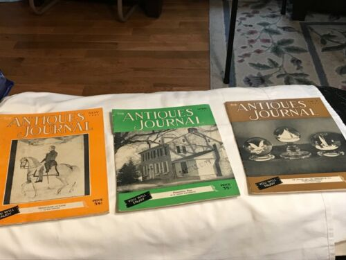 Vintage Antiques Journal Magazines/1951/ THREE Total