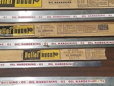 4 Pieces Heller Nucut Flat Ground Die Steel Knife Making Forging Oil Hardening