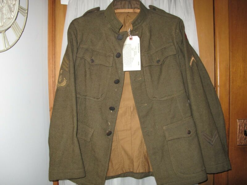 WW1 US Army Wool Service coat 1907 Pattern 5th infantry 3rd Army Sergeant Music
