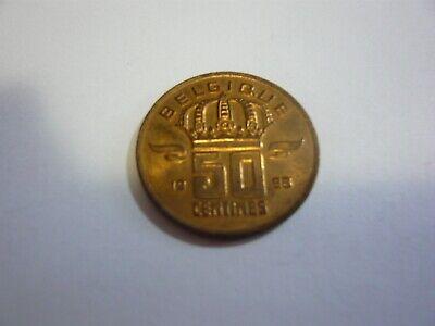 50 centimes belgique pièce - belgie munt 1998