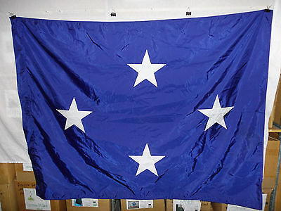 flag810 US Navy 4 Star Full Admiral flag US Flag & Signal Co 67 x 51