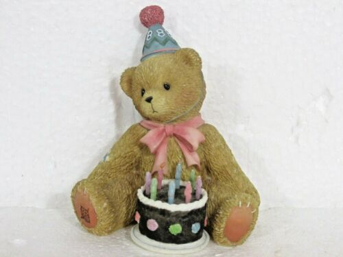 """Vintage 1998 Cherished Teddies #466247 Birthday """"Being Eight Is Really Great"""""""