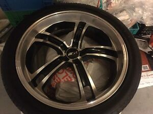MSR style 087 - 20 inch rims with tires and spacers
