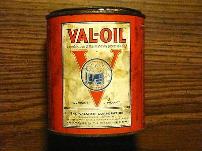 VINTAGE TIN VAL-OIL CAN THE VALSPAR CORPORATION MANUFACTURED A VARNISH PRODUCT for sale  Duluth