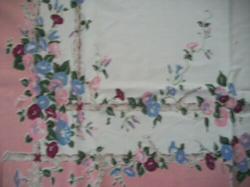Vintage Morning Glory Tablecloth