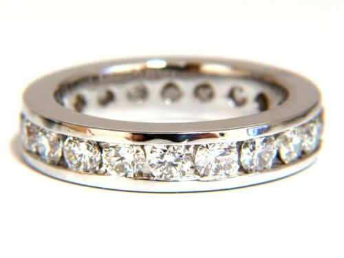 2.15ct Natural Round Diamonds Eternity Band Ring G/vs Channel+