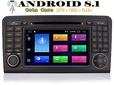 Für Benz M-Klasse W164 GL-Klasse X164 GPS Autoradio Android 8.1 AUX NAVI DVD TFT