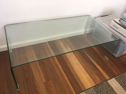 Ghost glass coffee table Freedom brand