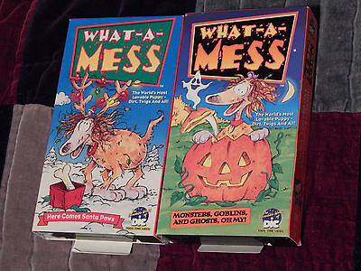 What-A-Mess(Halloween/Christmas) + Veggie Tales(NEW) VHS x 3 ~HOLIDAY LOT~  (Veggie Tales Halloween)