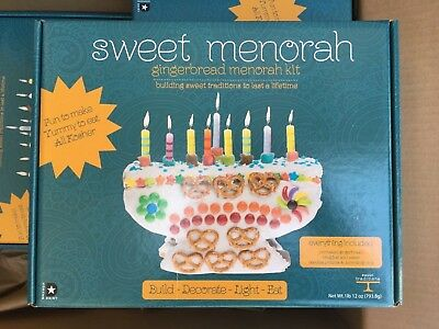 Gingerbread Menorah Kit NEW Family Fun Non-Edible
