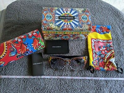 Dolce & Gabbana Women Sunglasses Blue Lens Graphic Frame DG4270 ITALY With Box!