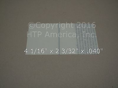 2 Hornell Speedglas Inside Clear Cover Lens 04-0280-00