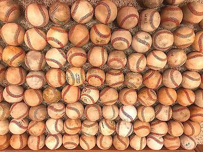Lot of 21 ALL LEATHER practice training little big league baseballs SHIPS FREE