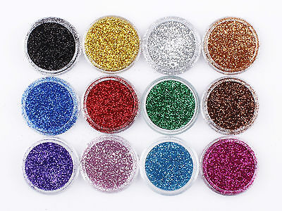 60 Colour Fine Dust Glitter Nail Art Face Body Eye Shadow Craft Paint Iridescent