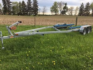 Tandem axel galvanized boat trailer 24-26 ft boat