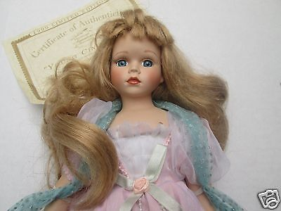 Cinderella Doll Heritage Signature Collection Heirloom Porcelain Vintage w/ COA